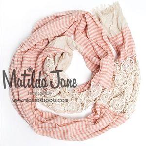 Matilda Jane Soft Stripes Scarf     NWT